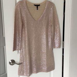 BCBG Maxazria blush sweater dress